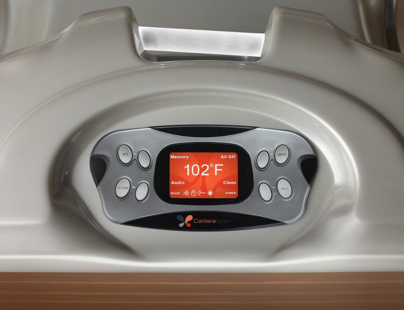 An intuitive control panel gives you full personalization of your relaxing hot tub soak.