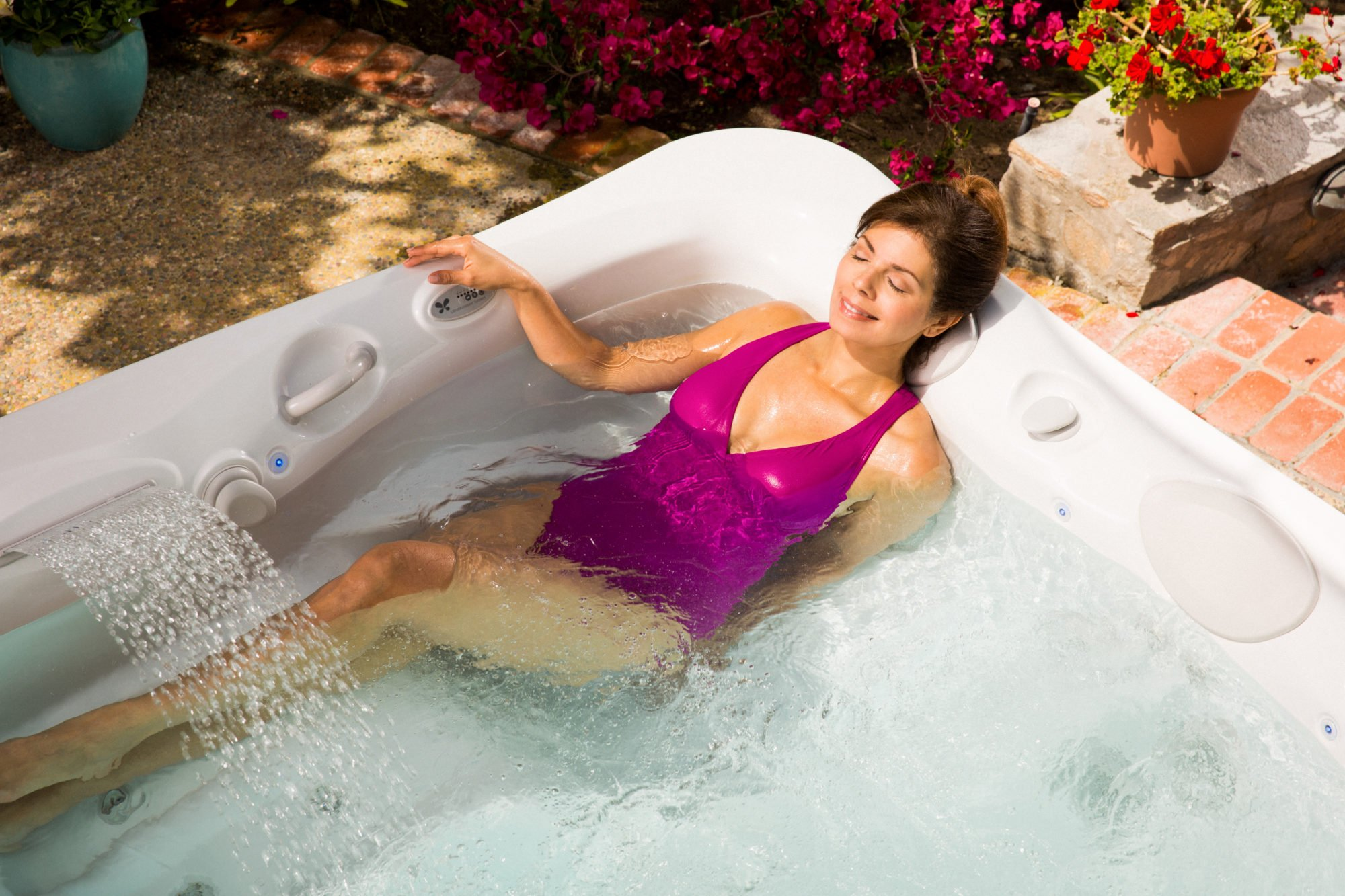 With the right summer hot tub setting you can cool off on warm days.