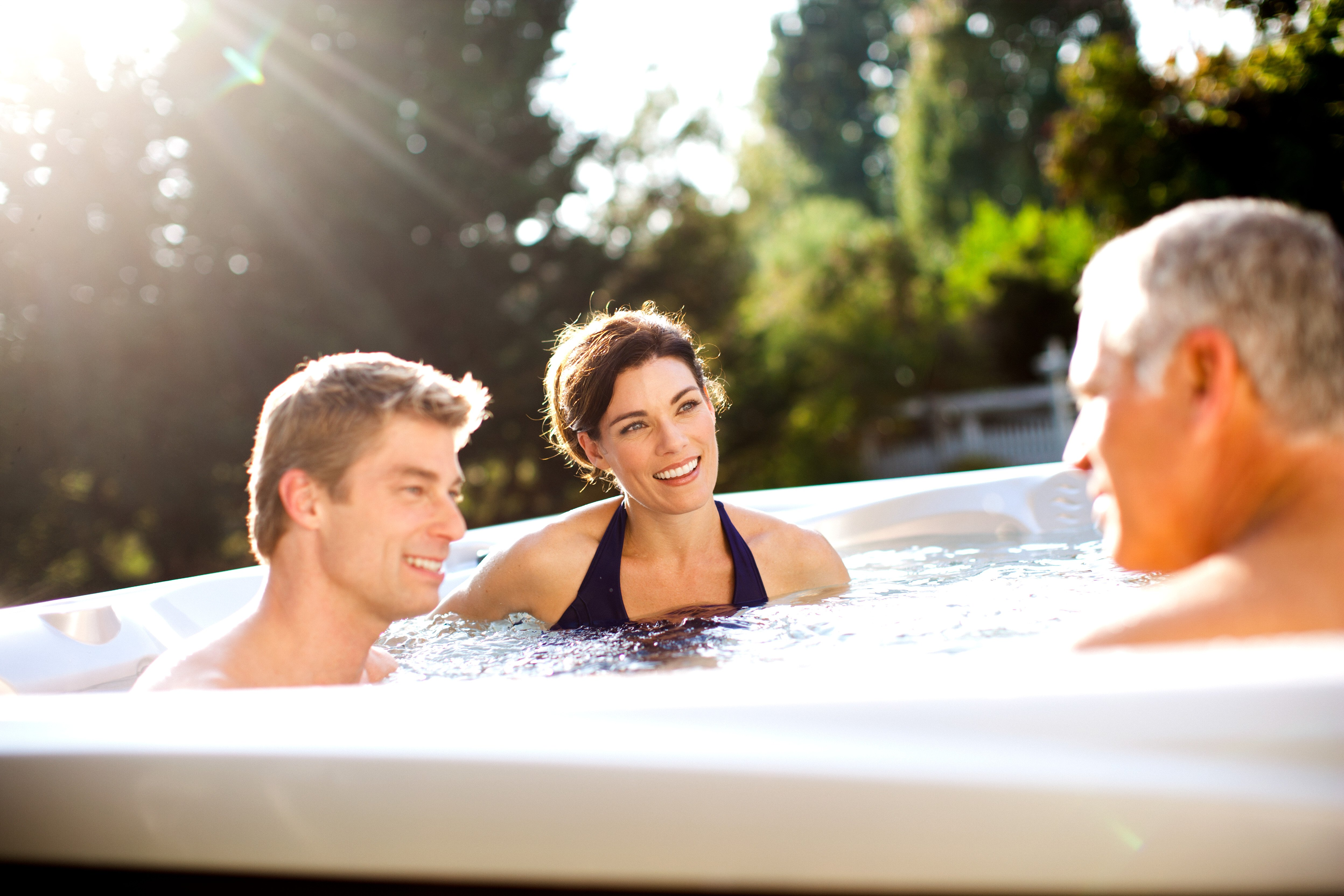 Low hot tub power consumption gives you a lot to smile about!